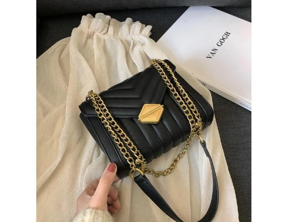 Мила жіноча сумка через плече з ланцюжком Ramiel 5-1A чорна