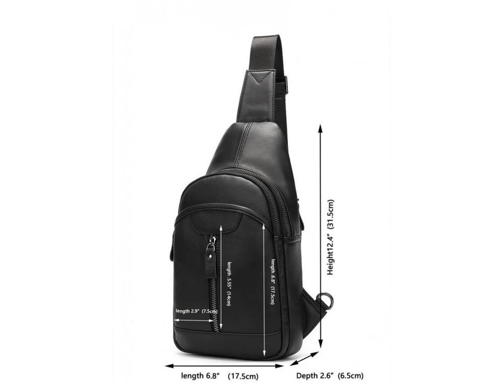 Стильная сумка через плечо из натуральной кожи JASPER MAINE 5007A - Фото № 3