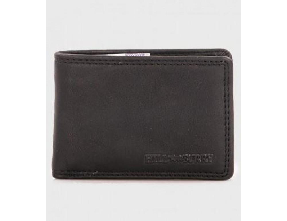 Чёрный кожаный портмоне мужской Hill Burry 5029WHBBlack - Фото № 1