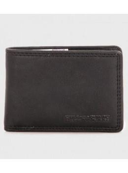 Чёрный кожаный портмоне мужской Hill Burry 5029WHBBlack