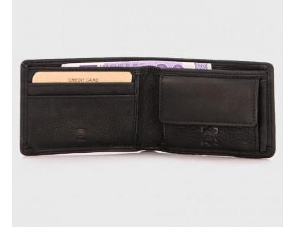 Чёрный кожаный портмоне мужской Hill Burry 5029WHBBlack - Фото № 2