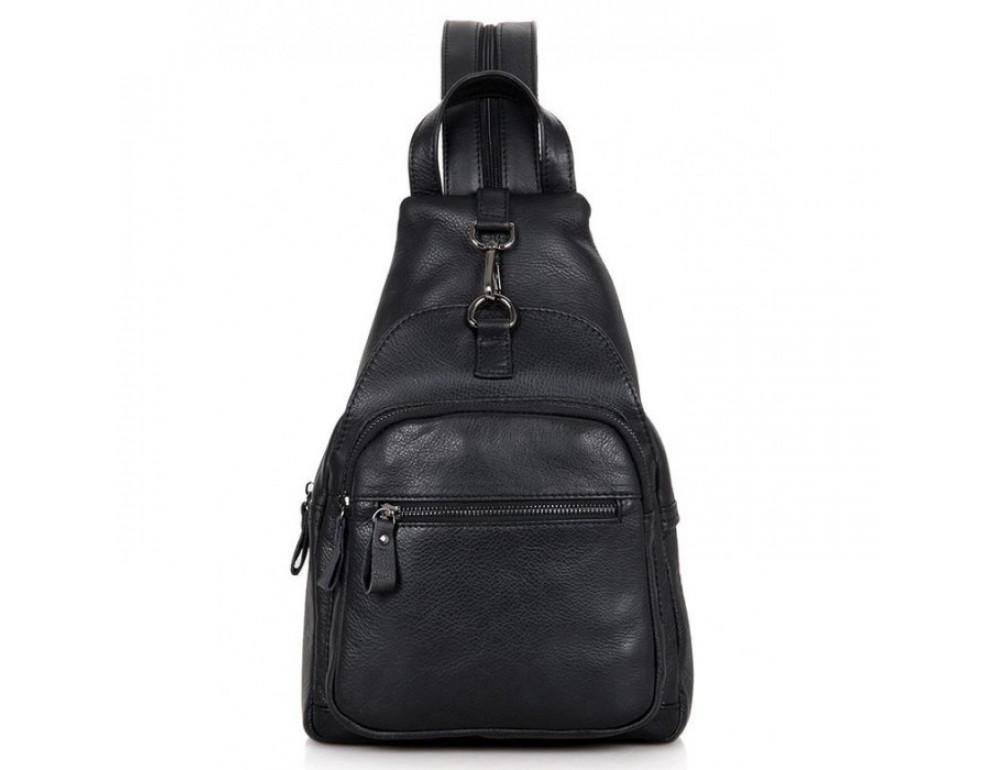 Кожаный рюкзак Tiding Bag 4005A унисекс черный - Фото № 1