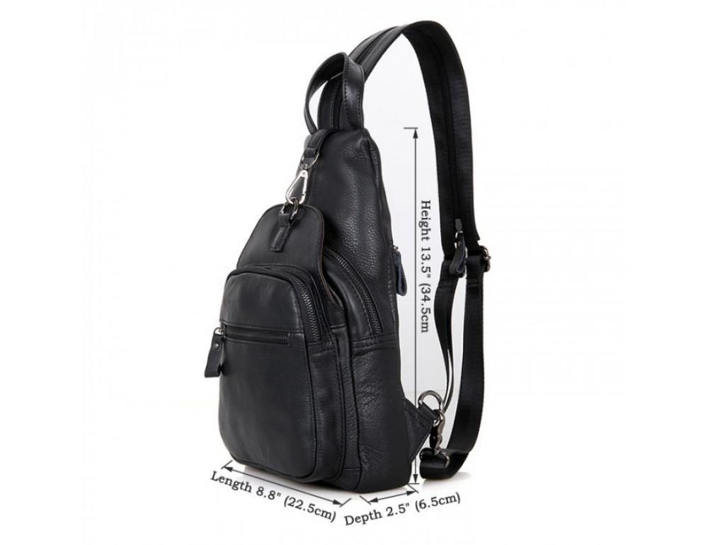 Кожаный рюкзак Tiding Bag 4005A унисекс черный - Фото № 2