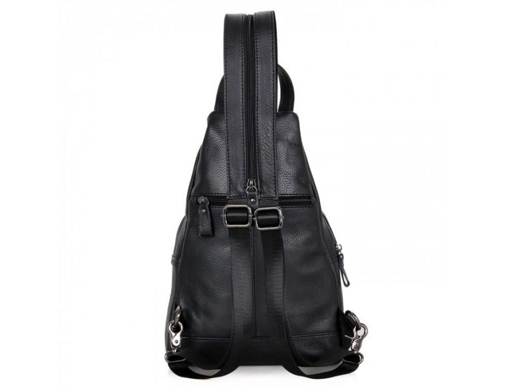 Кожаный рюкзак Tiding Bag 4005A унисекс черный - Фото № 3