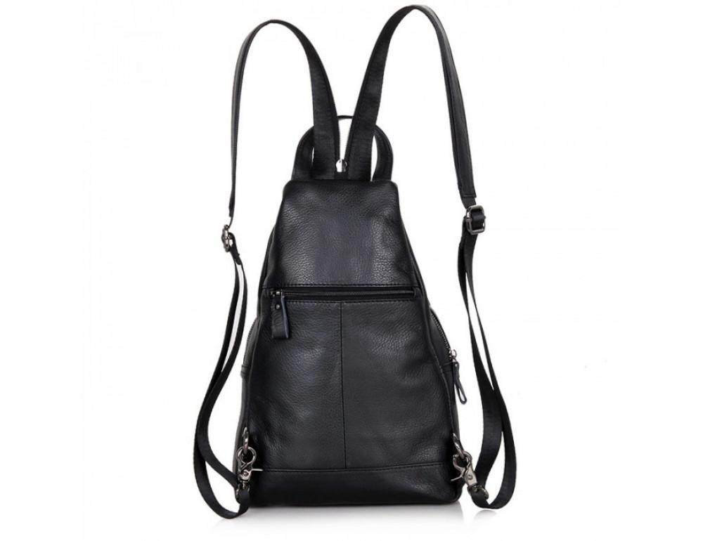 Кожаный рюкзак Tiding Bag 4005A унисекс черный - Фото № 4