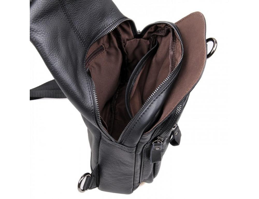 Кожаный рюкзак Tiding Bag 4005A унисекс черный - Фото № 7