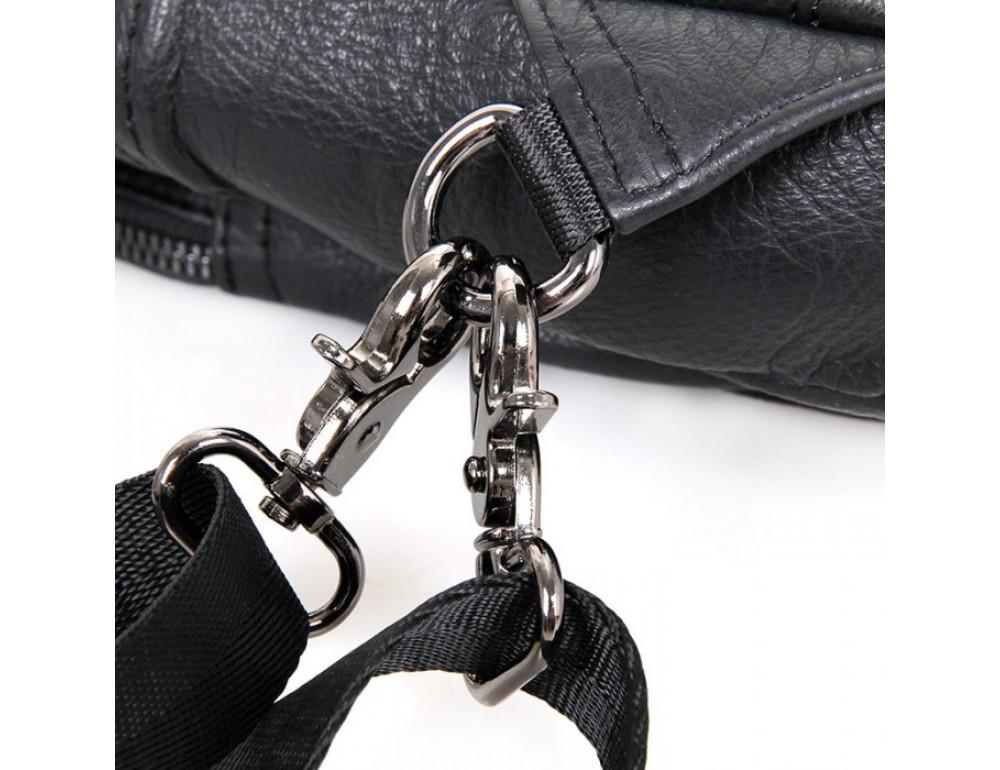 Кожаный рюкзак Tiding Bag 4005A унисекс черный - Фото № 9