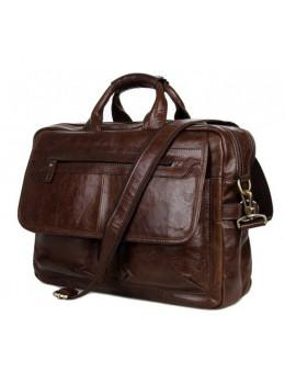 Кожаная сумка через плечо TIDING BAG 7085C