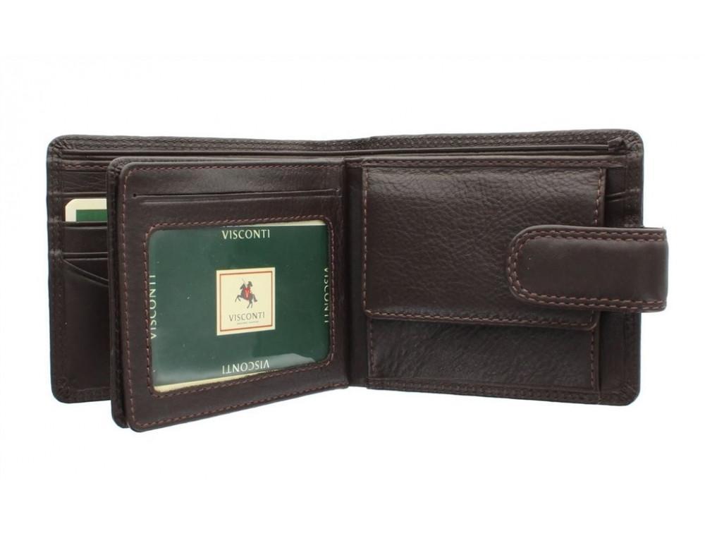 Коричневый мужской кожаный кошелек Visconti HT13 Strand choc - Фото № 2