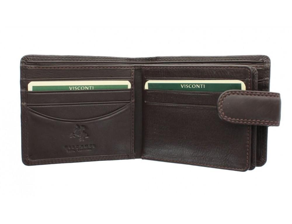 Коричневый мужской кожаный кошелек Visconti HT13 Strand choc - Фото № 3