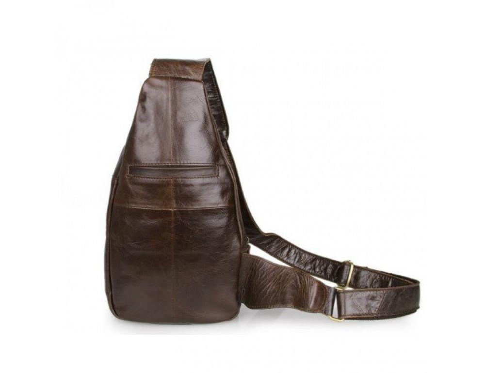 Мужская сумка на плечо TIDING BAG 2467C коричневая - Фото № 2