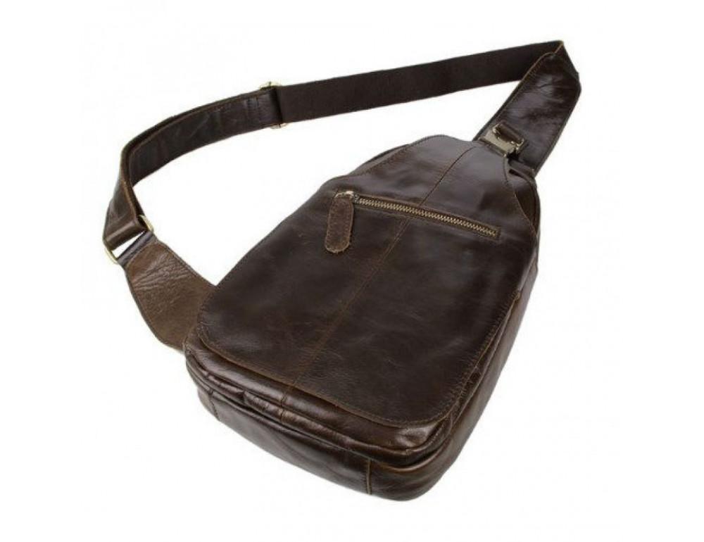 Мужская сумка на плечо TIDING BAG 2467C коричневая - Фото № 3