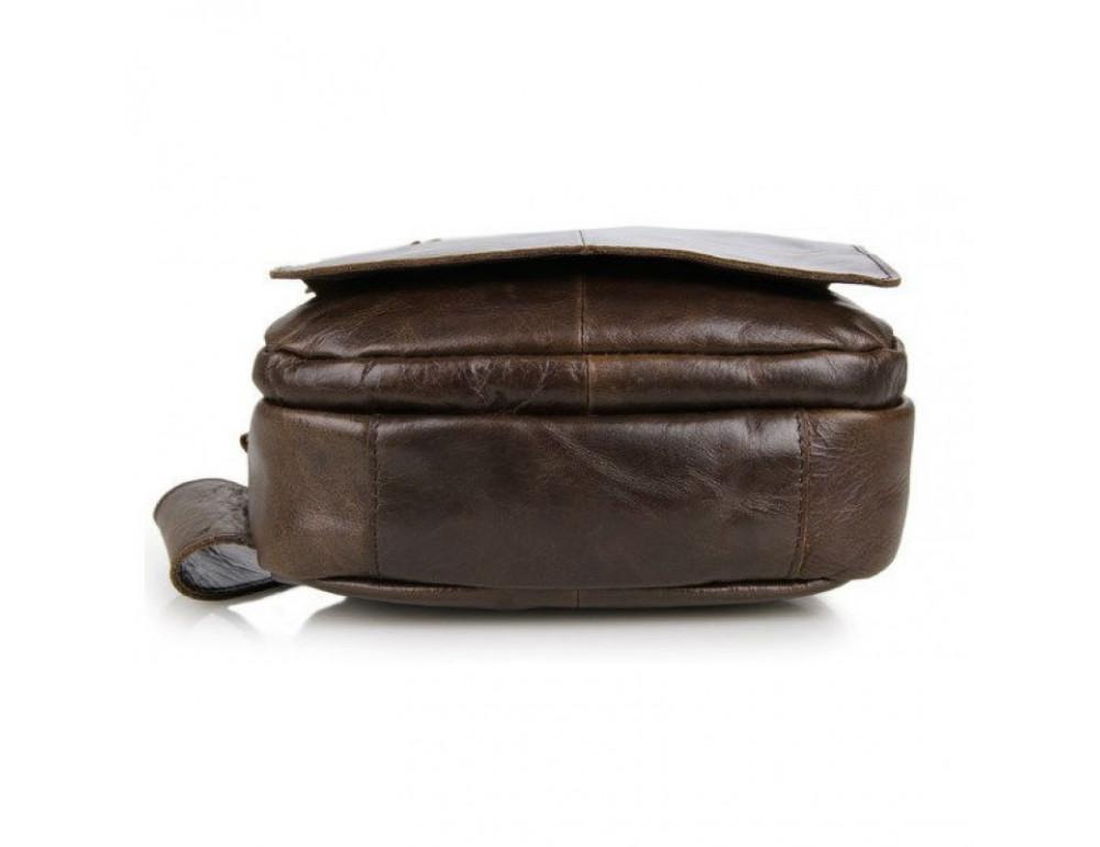 Мужская сумка на плечо TIDING BAG 2467C коричневая - Фото № 4