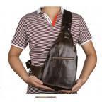 Мужская сумка на плечо TIDING BAG 2467C коричневая - Фото № 109