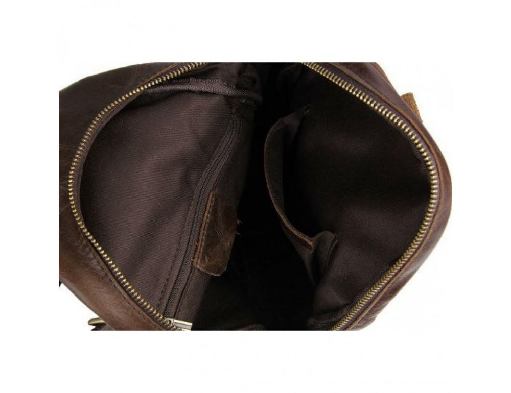 Мужская сумка на плечо TIDING BAG 2467C коричневая - Фото № 6