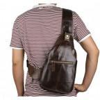 Мужская сумка на плечо TIDING BAG 2467C коричневая - Фото № 110