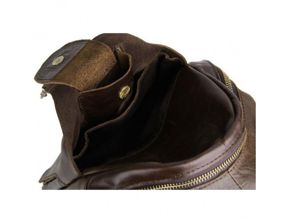 Мужская сумка на плечо TIDING BAG 2467C коричневая - Фото № 7