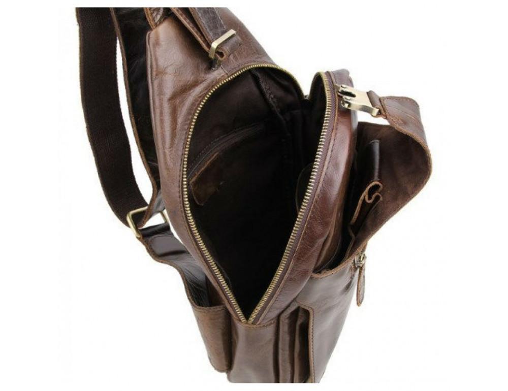 Мужская сумка на плечо TIDING BAG 2467C коричневая - Фото № 8