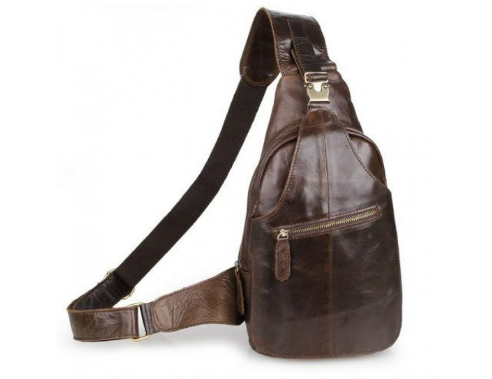 Мужская сумка на плечо TIDING BAG 2467C коричневая