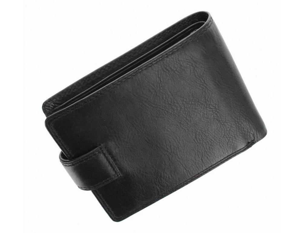 Мужской кожаный кошелек Visconti HT10 BLK чёрный - Фото № 4