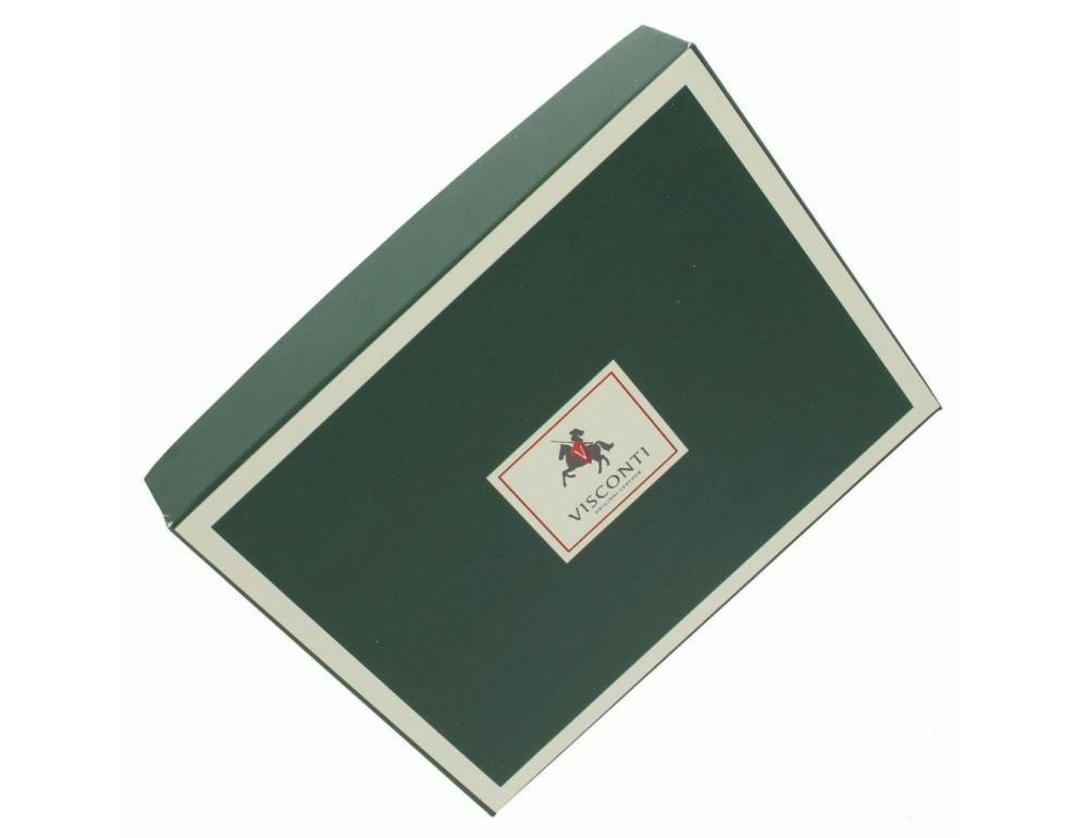 Мужской кожаный кошелек Visconti HT10 BLK чёрный - Фото № 6