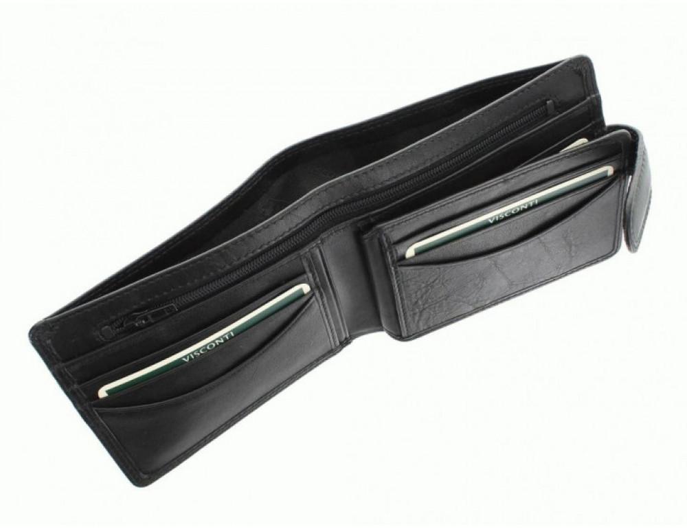 Мужской кожаный кошелек Visconti HT9 BLK Черный  - Фото № 6