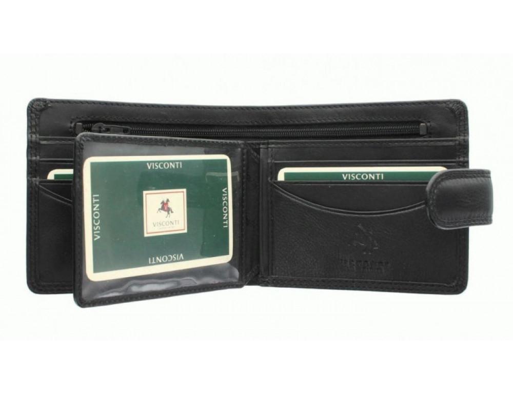 Мужской кожаный кошелек Visconti HT9 BLK Черный  - Фото № 5
