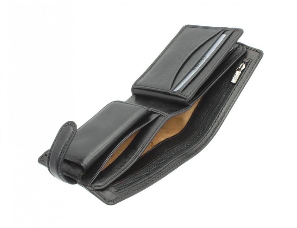 Мужской кожаный кошелек Visconti TSC42 BLK с RFID Arezzo black черный  - Фото № 4
