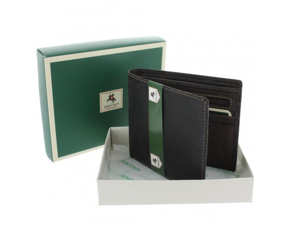 Мужской кожаный кошелек Visconti 707 коричневый - Фото № 6