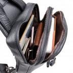 Чёрная сумка-мессенджер из кожи Tiding Bag 4006A - Фото № 105