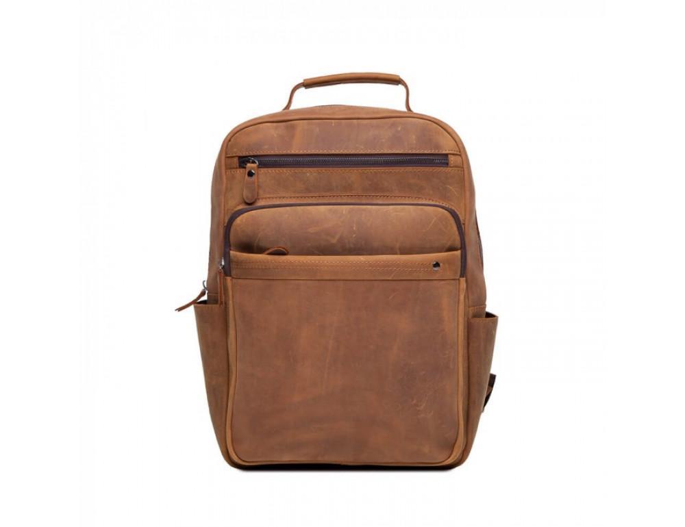 Винтажный городской рюкзак TIDING BAG t0004 коричневый - Фото № 2