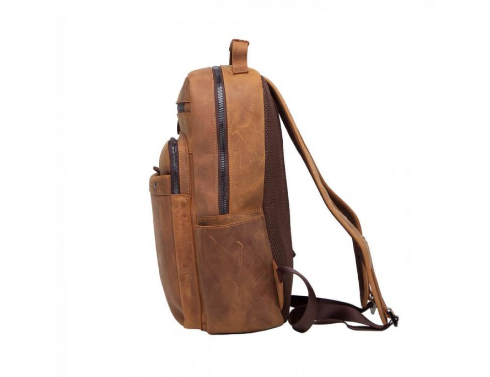 Винтажный городской рюкзак TIDING BAG t0004 коричневый - Фото № 4