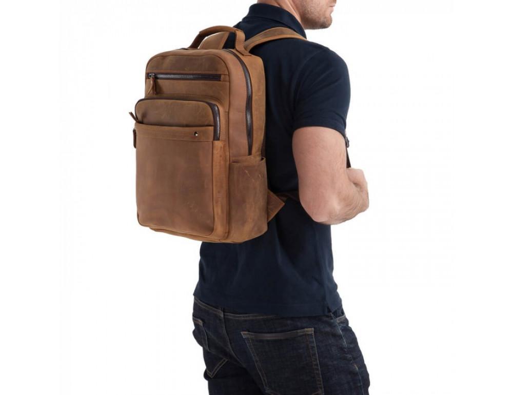 Винтажный городской рюкзак TIDING BAG t0004 коричневый - Фото № 5