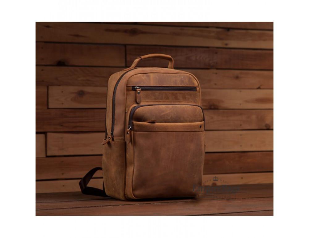 Винтажный городской рюкзак TIDING BAG t0004 коричневый - Фото № 6