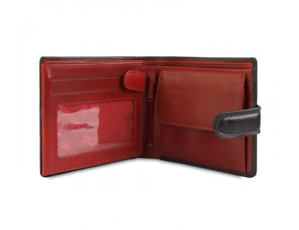 Мужской кожаный кошелек Visconti TR35 - Atlantis чёрный с красным - Фото № 3