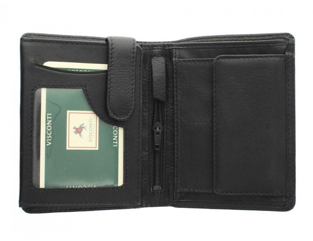Чёрный мужской кошелек небольших размеров Visconti HT11 BLK  - Фото № 2