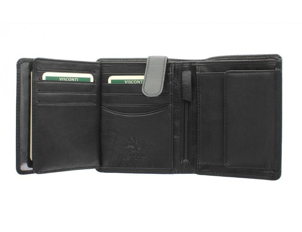 Чёрный мужской кошелек небольших размеров Visconti HT11 BLK  - Фото № 4
