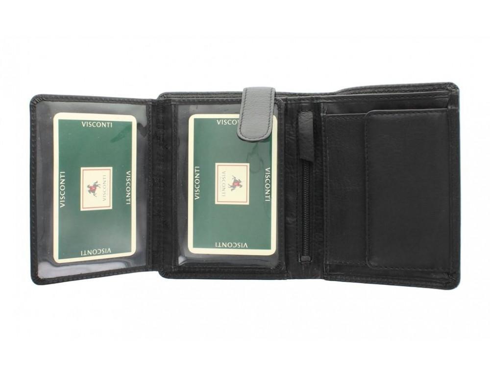 Чёрный мужской кошелек небольших размеров Visconti HT11 BLK  - Фото № 5