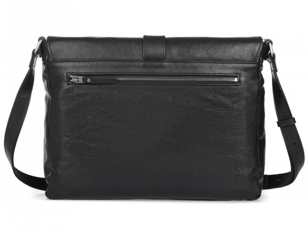 Чёрная кожаная сумка через плечо под ноутбук 15,6 Blamont P531711 - Фото № 5