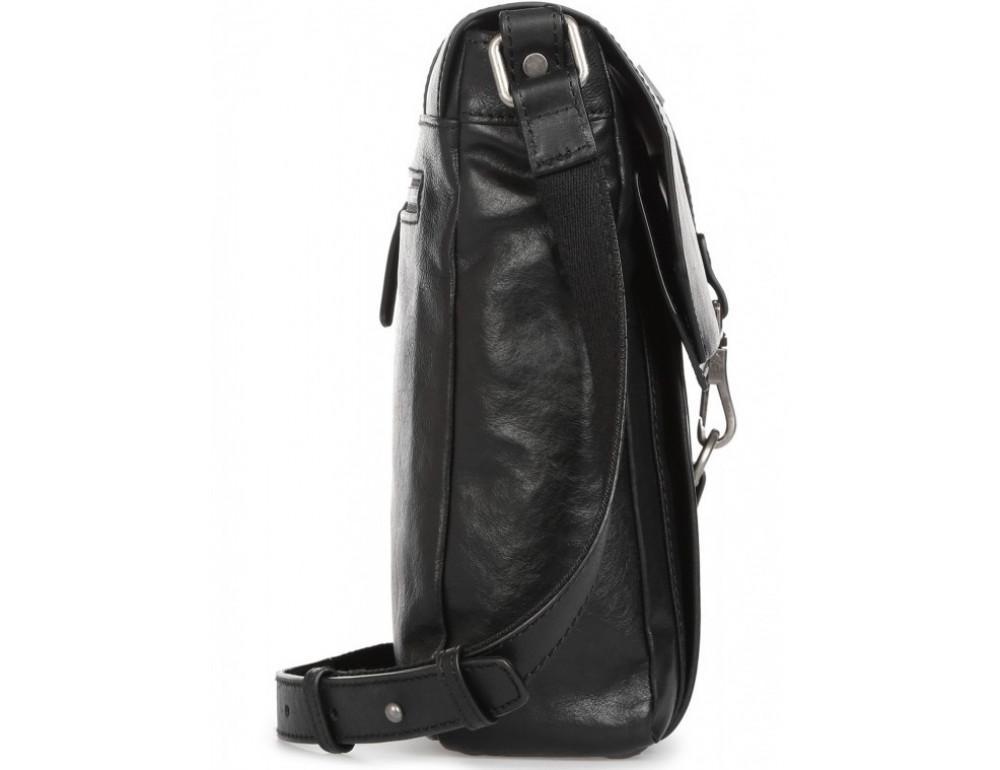 Чёрная кожаная сумка через плечо под ноутбук 15,6 Blamont P531711 - Фото № 6