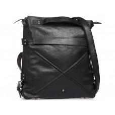 Чёрная накожная сумка-рюкзак Blamont P5912051