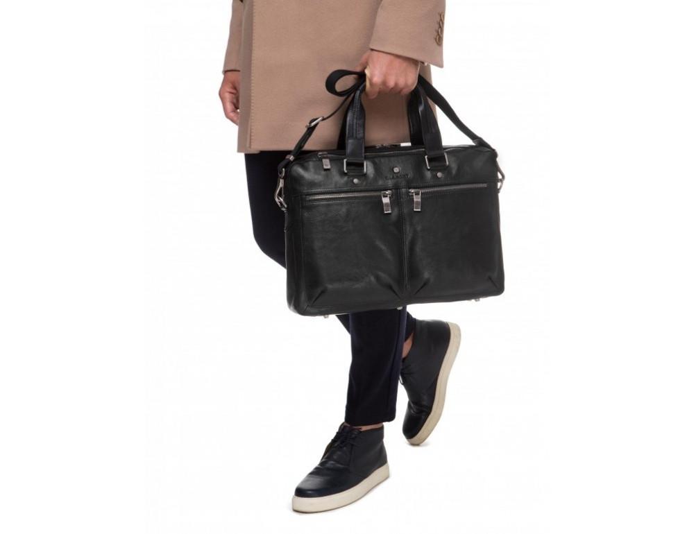 Чёрная кожаная деловая сумка Blamont P5912071 - Фото № 2