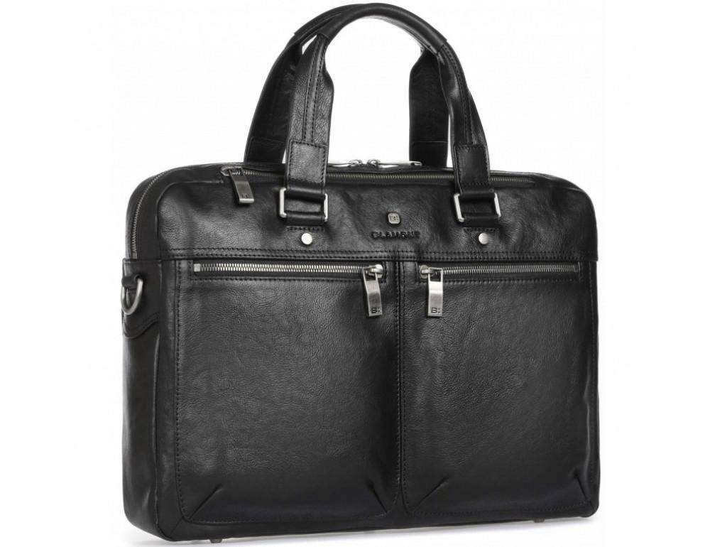 Чёрная кожаная деловая сумка Blamont P5912071 - Фото № 1