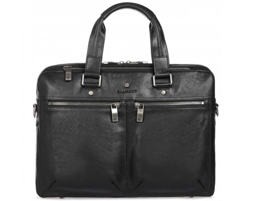 Чёрная кожаная деловая сумка Blamont P5912071 - Фото № 3