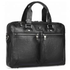 Чёрная кожаная деловая сумка Blamont P5912071