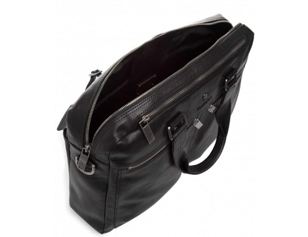 Чёрная кожаная деловая сумка Blamont P5912071 - Фото № 4