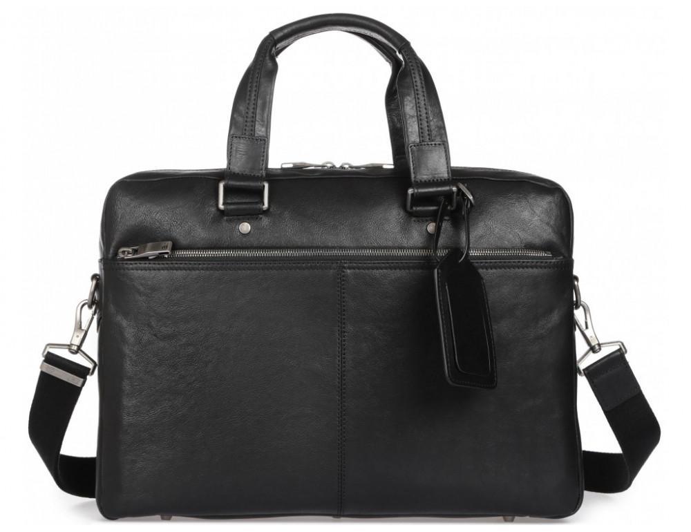 Чёрная кожаная деловая сумка Blamont P5912071 - Фото № 5