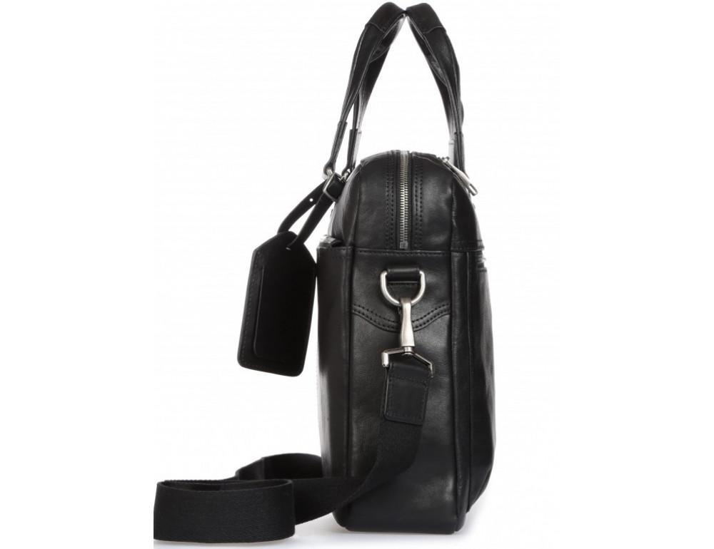 Чёрная кожаная деловая сумка Blamont P5912071 - Фото № 6