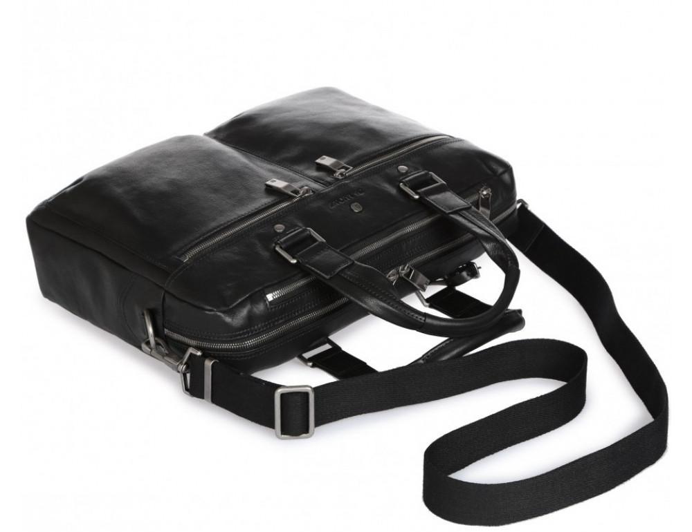 Чёрная кожаная деловая сумка Blamont P5912071 - Фото № 7