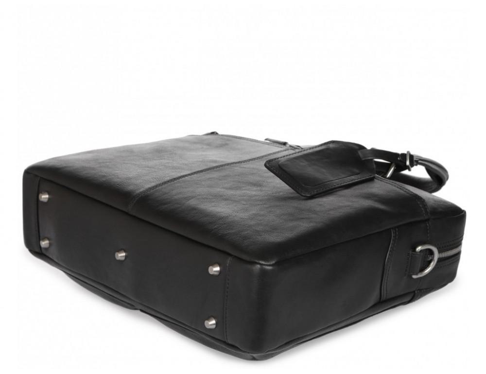 Чёрная кожаная деловая сумка Blamont P5912071 - Фото № 8